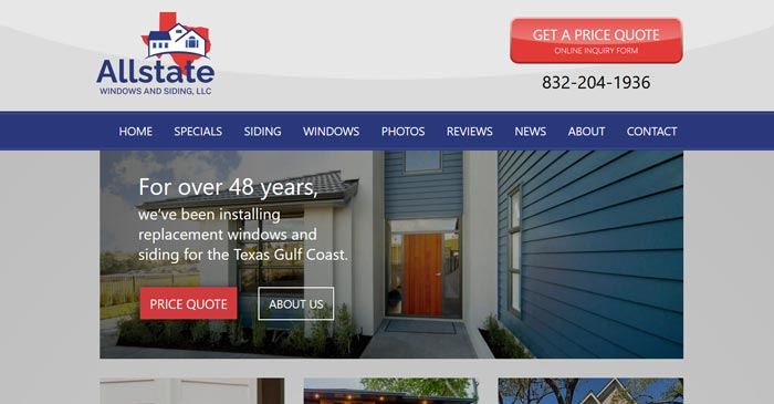 allstate windows and siding modern website design and seo