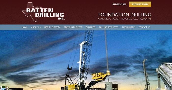 batten drilling modern website design