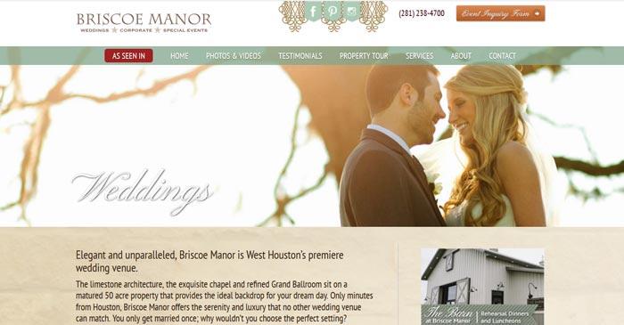 briscoe manor modern website design