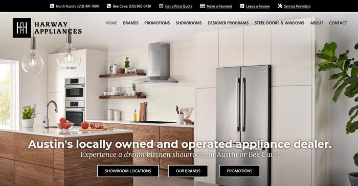 harway appliances modern website design and seo
