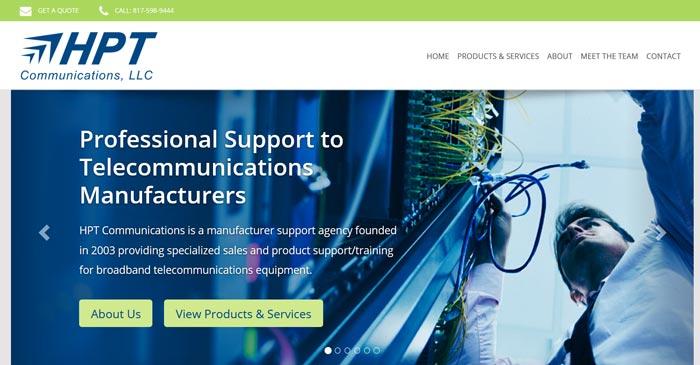 hpt communications modern website design