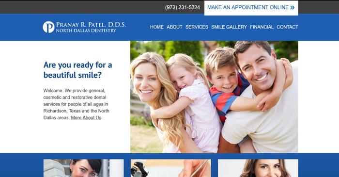 north dallas dentistry modern website design